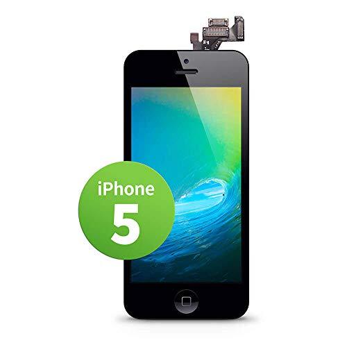 GIGA Fixxoo Pantalla LCD Tàctil de Repuesto para iPhone 5, Retina Display, Cámara y Sensor de proximidad, Video guía DYI Paso a Paso Simple, Separador Digitalizador - Negro