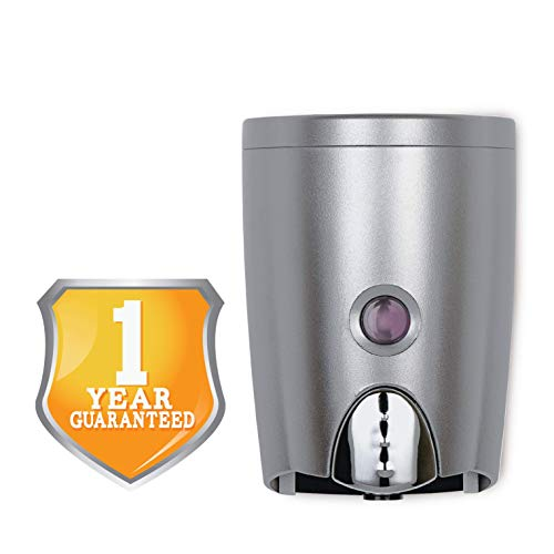 HOMEPLUZ Simply Dark Grey Manual Wall Soap Dispenser 20 oz (580ml) - Durable Rust Resistant ABS Casing - Wall Mounted for Kitchen, Bathroom, Home Office, Hotel, Commercial Buildings