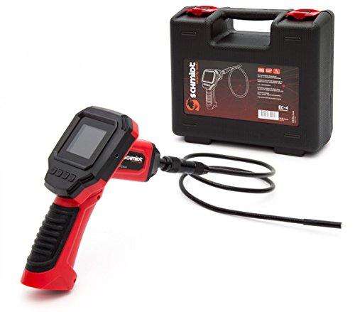 Schmidt Security Tools Inspektionskamera Endoskopkamera EC-4 mit 2.31\' LCD Display Endoskop mit 1m Schlauch mit Licht