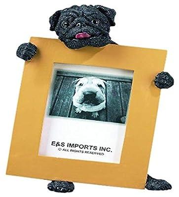 Pug Black 2.5'' x 3.5'' Photo Frame from E&S Imports, Inc