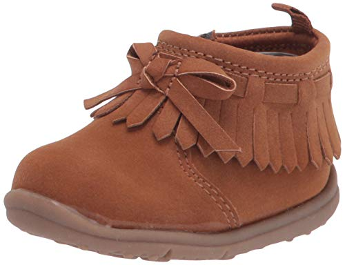 Carter's Every Step Baby Girls Camber Fringe Fashion Boot First Walker Shoe, Brown, 4 Infant