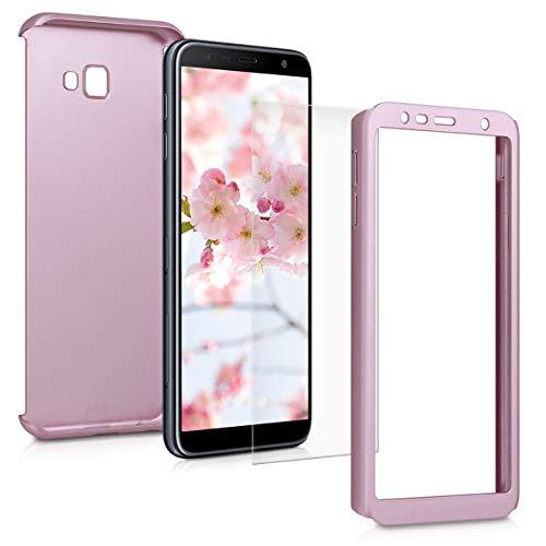 kwmobile Funda Compatible con Samsung Galaxy J4+ / J4 Plus DUOS - Carcasa Protectora con Protector de Pantalla - Cover con Protector Duro