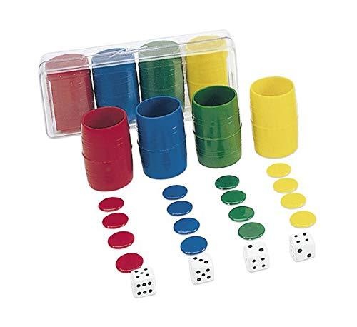 Tiendas LPG Cayro- Accesorios Parchis en Caja de plástico, 4 Jugadores, Multicolor