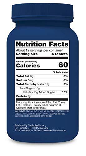 TRUEplus® Glucose Tablets, Raspberry - 50ct