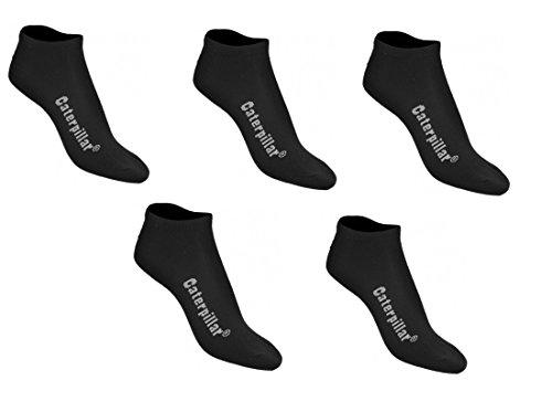 Caterpillar CAT wahlweise 5|10|15 Paar Sneakersocken, Schwarz oder Weiß oder Farbmix, 39-42 | 43-46 | 47-50, Kurzschaftsocken, Socken (43-46, 10 Paar Schwarz)