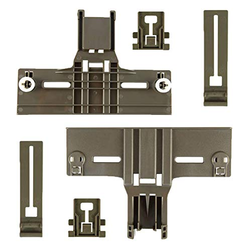 6Pack Upgraded Dishwasher Top Rack Adjuster W10350376(2) W10195839(2) W10195840(2) for kenmore elite, kitchen aid, 0.9 In Diameter Wheel, Replace whirlpool Dishwasher Parts 665, w10350374, w10195840