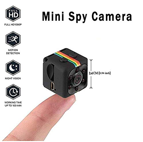Mini Kamera DV Video Recorder -Spion versteckt Wireless Mini-Kamera 1080P HD Portable Mini Security Camera mit Night Vision/Motion Detection,Black