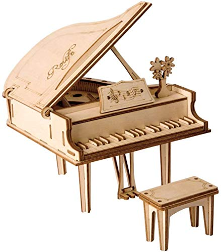 Robotime 立体パズル 木製 レーザー仕上 DIY クラフト 子供 プレゼント 玩具 (ピアノ)