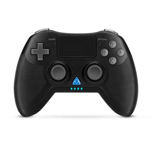 iXuyang PS4 Controller Wireless Gamepad for PS3 4 PS4 Pro and PC Professional USB Gamepad HighSensitive Controller with AntiSlip Handle Can be Wired to PC