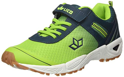 Lico Unisex Kinder Barney VS Sneaker, Gelb (Lemon/ Petrol), 33 EU