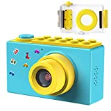 FISHOAKY Kamera Kinder, Digitale Kamera Kinder, Digitalkamera Videokamera Fotoapparat Kinder Full HD 1080P / 8MP / 4X Digitaler Zoom / 2 Zoll LCD Bildschirm / 256M TF Karte (Blau)