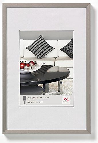 walther design AJ040B Aluminium-Bilderrahmen Chair, 30x40 cm, stahl
