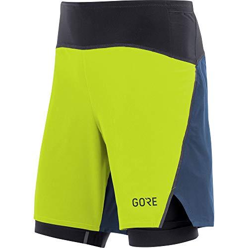 Gore Wear Herren GORE R7 2in1 Shorts, Citrus Green/Deep Water Blue, M
