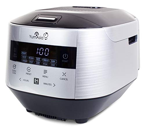 Yum Asia Bamboo Rice Cooker with Induction Heating (IH) and Ceramic Bowl, 7 Rice...