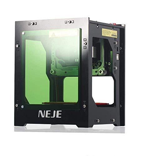 NEJE Stampante Laser Engraver 1500mW Mini Macchina per Incisione 490x490 Pixel USB 2,0 Laser Engraver Printer Doppia Presa USB Filtro Acrilico con Aspirazione Magnetica
