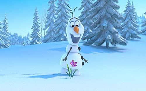 CHANGJIU-Jigsaw Puzzle Puzzle 1000 Piezas- Póster Frozen Olaf -Puzzle Educational Game Juguete para Aliviar Estrés Juego Intelectual Cerebro Desafío