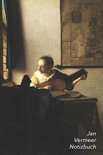 Jan Vermeer Notizbuch: Lautenspielerin am Fenster   Perfekt für Notizen   Modisches Tagebuch   Ideal für die Schule, Studium, Rezepte oder Passwörtern zu schreiben