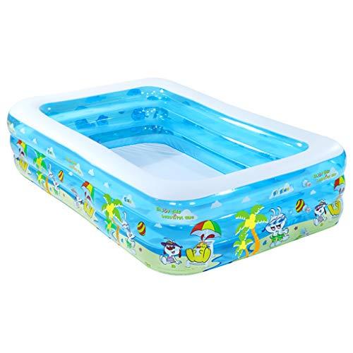 Draagbaar Rechthoekig Opblaasbaar Kinderzwembad, Gezinszwembad, PVC Baby-kinderbad, Opblaasbare Zomerzwembaden (180/200 / 250cm)