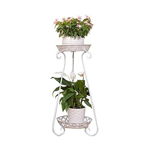 TONG Soporte de flores de hierro forjado para sala, maceta de flores (color: blanco, tamaño: talla única)