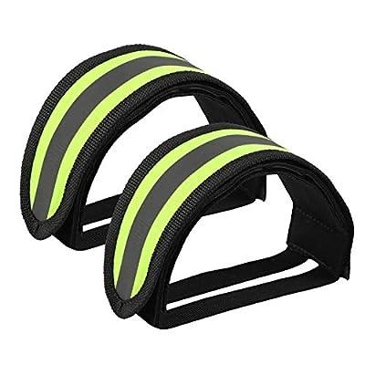 1 Pair Bike Toe Strap Adjustable Reflective Bike Feet Strap for Fixed Gear Bike
