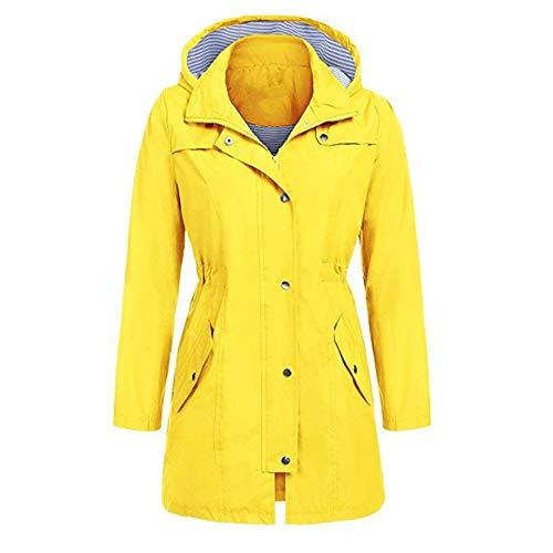 x8jdieu3 Beiläufige wasserdichte Kapuzenjacke Damen wasserdicht regendicht Winter beiläufige tägliche Jacke Damen Feste Regenjacke im Freien