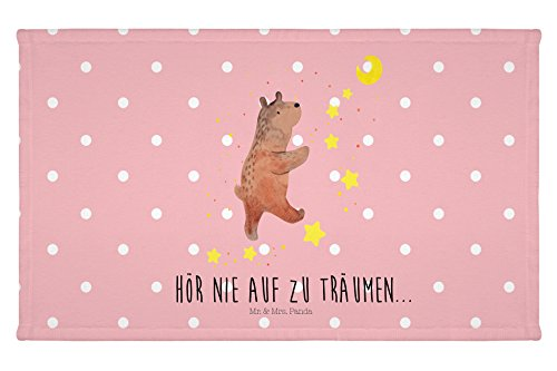 Mr. & Mrs. Panda Gäste Handtuch Bär Träume - 100% handmade in Norddeutschland - Bär, Träumen, Traum, Traumdeutung Gästehandtuch, Handtuch, Handtücher