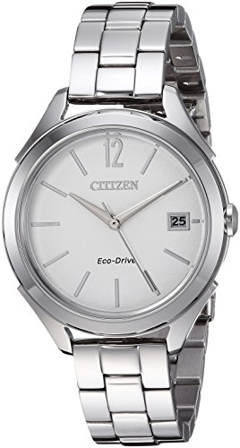 Citizen Women's 'Drive' Quartz Stainless Steel Casual Watch, Color:Silver-Toned (Model: FE6140-54A)