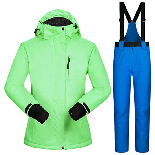 Women Winter Windproof Waterproof Female Ski Jacket and Snow Pants Sets Super Warm Brands Women Ski Suit Green Blue