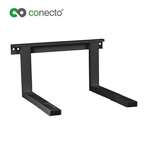 conecto CC50302 Universal-/Mikrowellenhalterung für Wandmontage Längenverstellbare Ausleger (385-535mm), Auslegerbreite 43cm, Traglast max. 35,0kg, schwarz