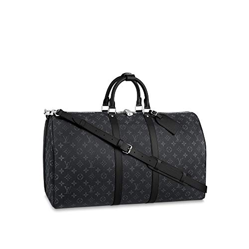 Louis Vuitton Monogram Eclipse Keepall Bandouliere Travel Bag (Keepall 55)