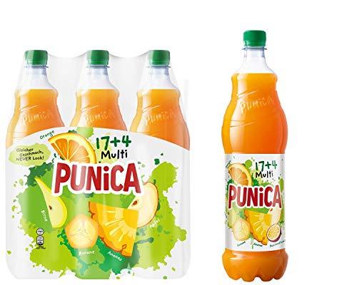 Punica Classic Multi 17+4 – Fruchtig frisches Multivitamin Mehrfruchtsaftgetränk – 6 x 1,25l Flasche