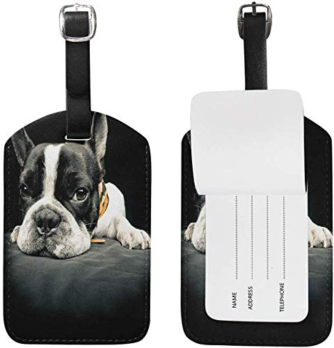 Printed travel label - French Bulldog Dog Animal Luggage Tags Travel Bag Tag 1 Piece