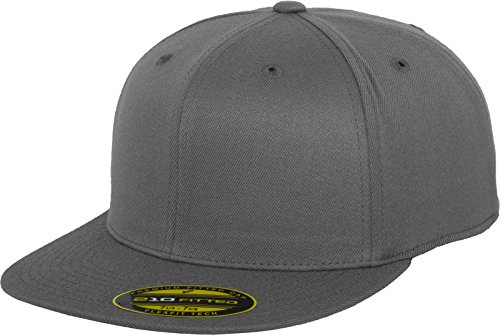 Flexfit Erwachsene Mütze Premium 210 Fitted, grau (darkgrey), L/XL