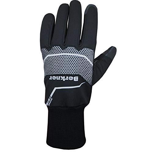 Berkner - Guantes de ciclismo para invierno, color negro, talla M