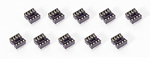 10Stück 8-Pin DIL DIP IC Mikrochip Sockel Socket für Arduino Prototyping Attiny