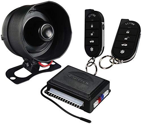 Scytek A20 Security Car Alarm Keyless Entry with 4 Power Door Lock Actuator