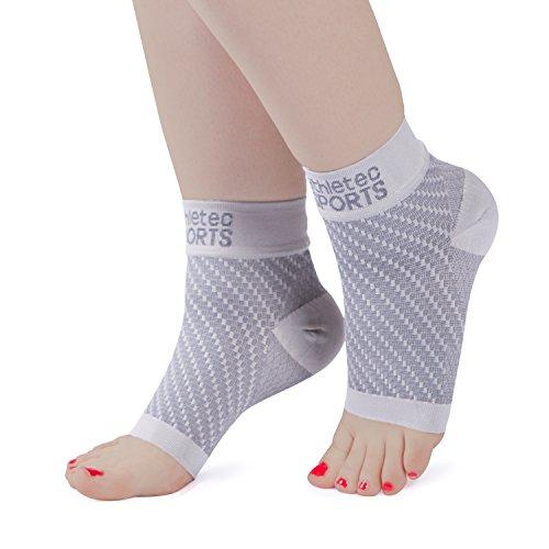 Athletec Sport-Kompressions-Fußmanschetten mit Fußgewölbeunterstützung zur Linderung von Plantarfasziitis