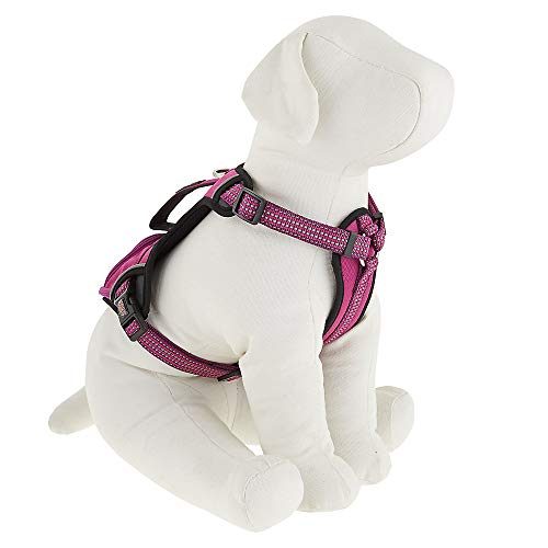 Dog Harness Kong Reflective Pocket Large Pink