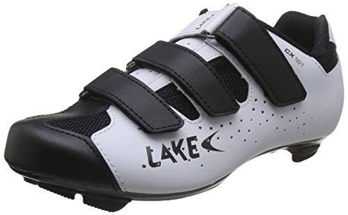 Lake - Cx161-x, Fahrradschuh Unisex - Erwachsene, Unisex, L3013198, Weiss SCHWARZ, 44 EU