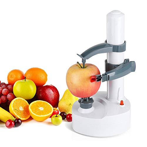 Electric Peeler Multifunctional Automatic Stainless Steel Electric Rotating Express Fruits & Vegetables Cutter Slicer for Potato Apples Pear Fruit
