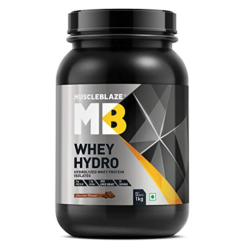 MuscleBlaze Whey Hydro Whey Protein Isolate (1 Kg, Chocolate)