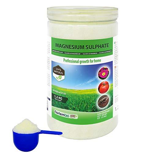 NortemBio Agro Natürliches Magnesiumsulfat 1,2 Kg. Universeller Dünger. Förderung des Wachstums der Kulturpflanzen, Gärten und Zimmerpflanzen.