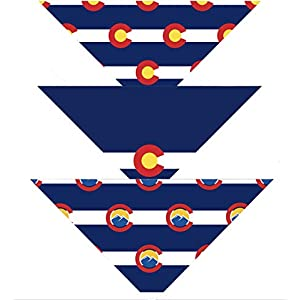 Native Pup Colorado Flag Dog Bandana | 3-Pack | Small or Large Scarf Set|