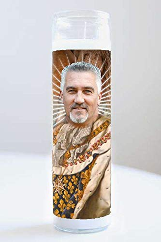 Unique Paul Hollywood Celebrity Prayer Candle, 8.2 inches Unscented Wax Jar Candle, 100% recyclable and biodegradable candle.