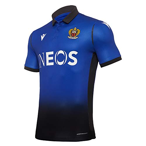 Macron Herren Nice.M20 Matchday AUTH. Third Shirt SS SR OGC Nizza Trikot 3rd 2020/21, blau, S