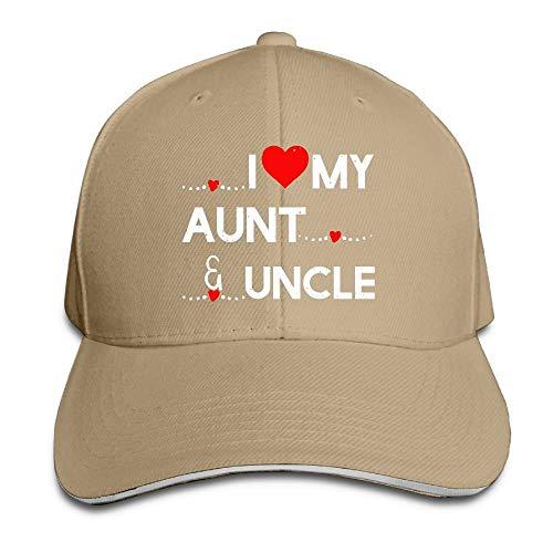 Preisvergleich Produktbild AOHOT Herren Damen Baseball Caps, Hüte,  Mützen,  Classic Baseball Cap,  Women's / Men's I Love My Aunt and Uncle Adult Adjustable Snapback Hats Baseball Cap