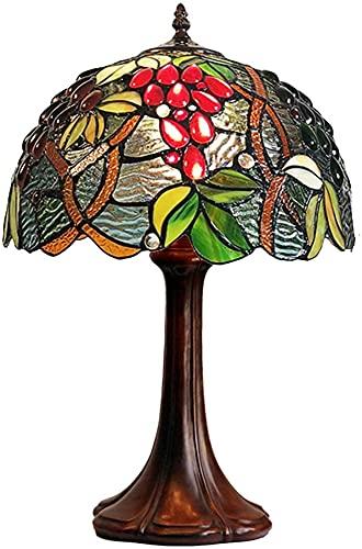 Tiffany Style Lámpara de mesa W12 H18 pulgada Hecho a mano Manchado Escritorio Antiguo Luz de lectura para estudio Oficina Sala de estar Dormitorio Arte de noche Regalo LJMYQL