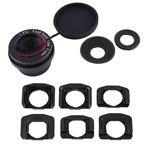 YOUTHINK 拡大鏡ファインダー 1.51X 固定フォーカス ファインダー アイピース デジタル一眼レフカメラマン用 2×アイパッチ 6×ファインダーマウントベース