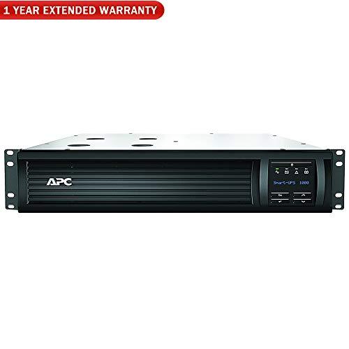 APC 1000VA Smart UPS LCD RM2U 120V (SMT1000RM2UC) + 1 Year Extended...
