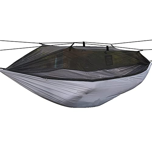 Hammock, 2 In 1 Function Ridge Hammock Quick-Drying Parachute Nylon For Camping Outside Travel Hiking Backpacking